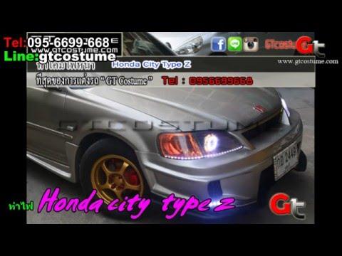 แต่งรถ Honda city type z แต่งไฟ Projector Xenon Tel. 095-669966-8 // 096-550-5504
