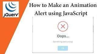 How to Make an Animation Alert using JavaScript 💡 SweetAlert 💡