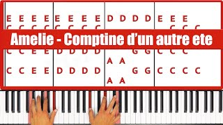 ♫ ORIGINAL - How To Play Comptine d'un autre ete Yann Tiersen Piano Tutorial Lesson! - PGN Piano