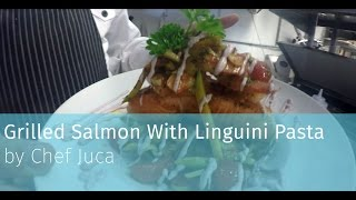 Fresh Salmon Linguini Pasta By Chef Juca