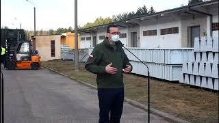 Premier Morawiecki o sprzęcie medycznym w Komorowie
