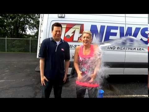 Brandon Bartlett and Jackie Monroe take on the Ice Bucket Challenge for ALS