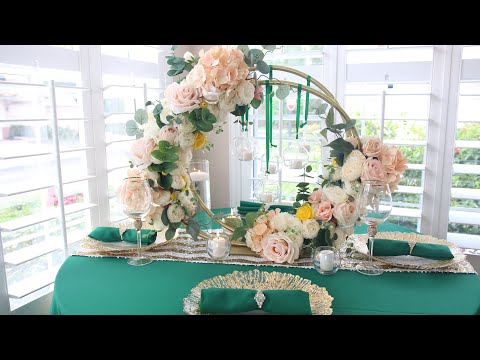 Diy Dollar Tree Hula Hoop Wedding Centerpiece