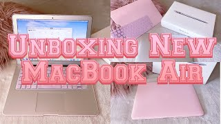UNBOXING New MACBOOK AIR | FIRST TIME USING A MACBOOK