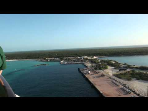 Docking at Disney's Castaway Cay Island with the Disney Dream