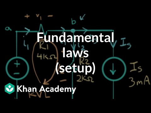 Application of the fundamental laws (setup) | Electrical engineering | Khan Academy
