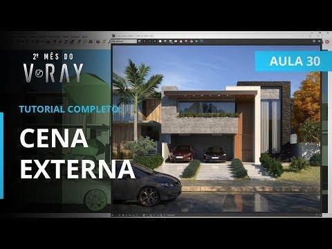 Vray 3.6 para SketchUp - Aula 30/30: CENA EXTERNA | TUTORIAL COMPLETO