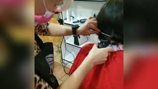 Сделать женскую стрижку на короткие волосы в Броварах Мария Гороховская салон красоты La Familia