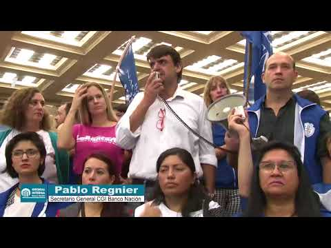Discurso del compañero Pablo Regnier Sec Gral CGI Banco Nacion 16/04/2018