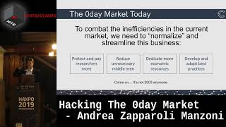 #HITBHaxpo D1 - Hacking The 0day Market - Andrea Zapparoli Manzoni