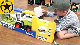BRUDER Toys Tractor Claas Jaguar 900: Unboxing and Statements by Jack(3)