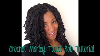 BOB HAIRCUT TUTORIAL with CROCHET MARLEY HAIR