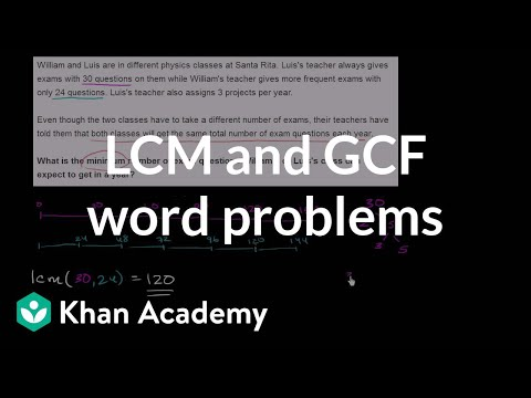 LCM And GCF Word Problems | Factors And Multiples | Pre-Algebra | Khan Academy