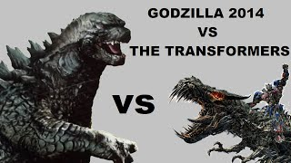 GODZILLA 2014 VS THE TRANSFORMERS (toy battle)