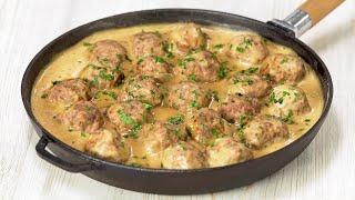 Знаменитые шведские фрикадельки в белом соусе. Вкусный ужин за 25 минут. Рецепт от Всегда Вкусно!
