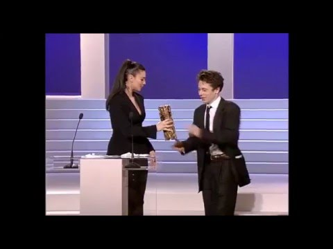 Monica Bellucci awards Mathieu Amalric, 1997 Сesar