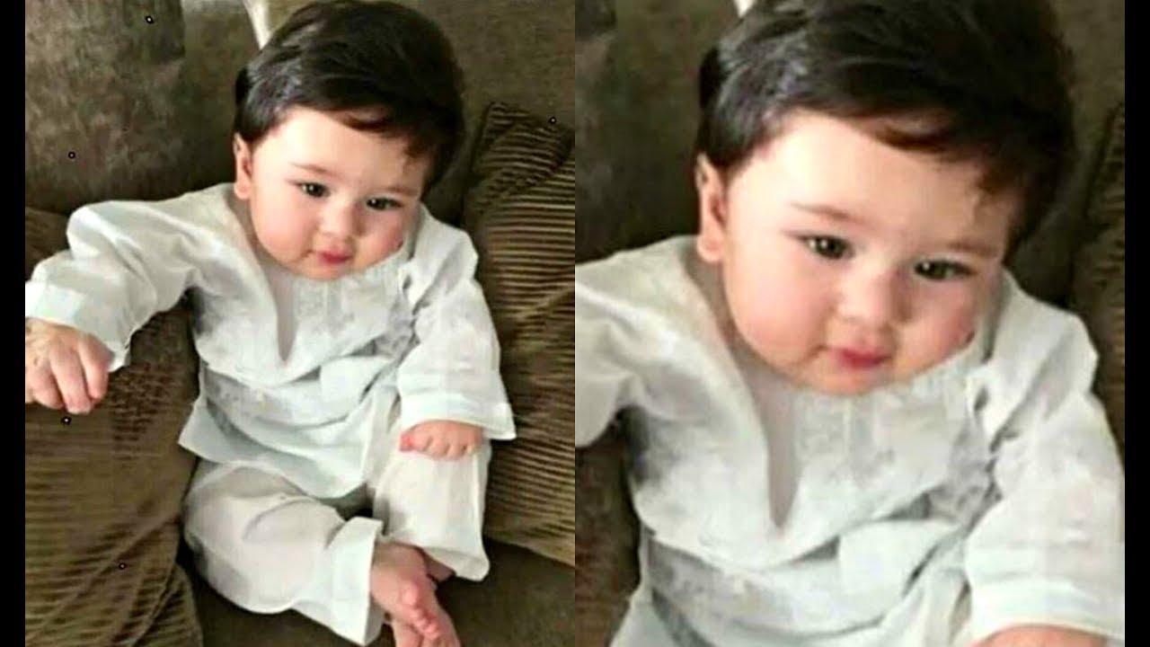 Kareena Kapoor Son Taimur Ali Khan Cute In White Kurta