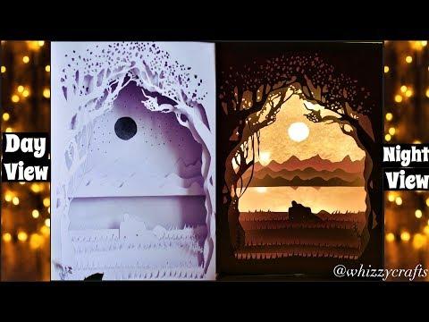 3D Papercut Shadow Box / Valentine Special / PAPERCUT LIGHT BOX