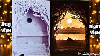 3D Papercut Shadow Box / Valentine Special / DIY