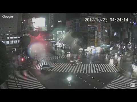 Typhoon Lan latest: WATCH Storm 'bigger than Japan' hit Tokyo rush-hour - LIVE WEBCAM