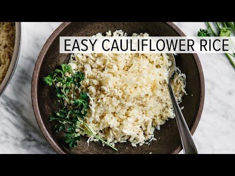 HOW TO MAKE CAULIFLOWER RICE | easy cauliflower rice recipe