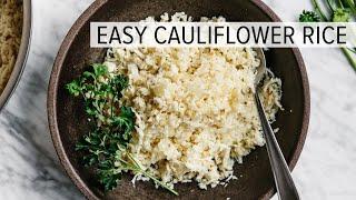 كيفية جعل القرنبيط الأرز | صحية القرنبيط وصفة الأرز