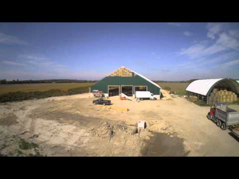 Construction of KNJ Farms Ltd 100' x 98' Epic building series!