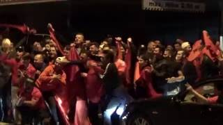 Fussball-EM 2016, Albanische Fans feiern 1:0 Sieg gegen Rumänien, St.Gallen (CH)