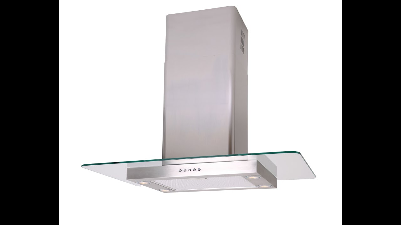 Straight Glass Island Kitchen Extractor