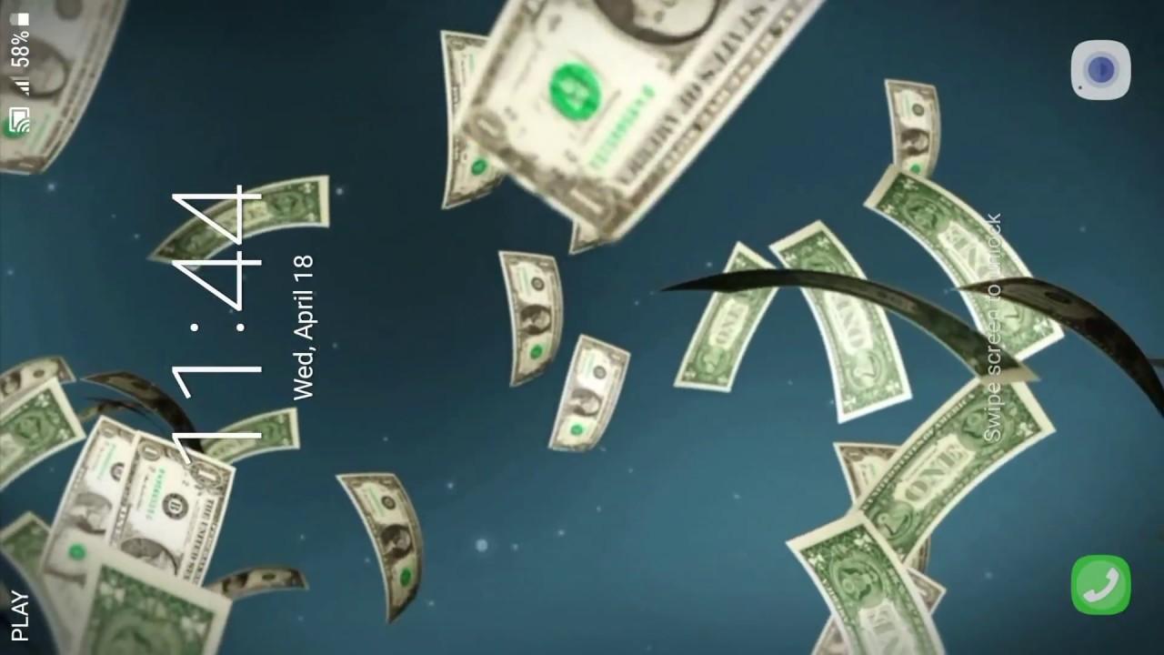 Money Rain Live Wallpaper - YouTube