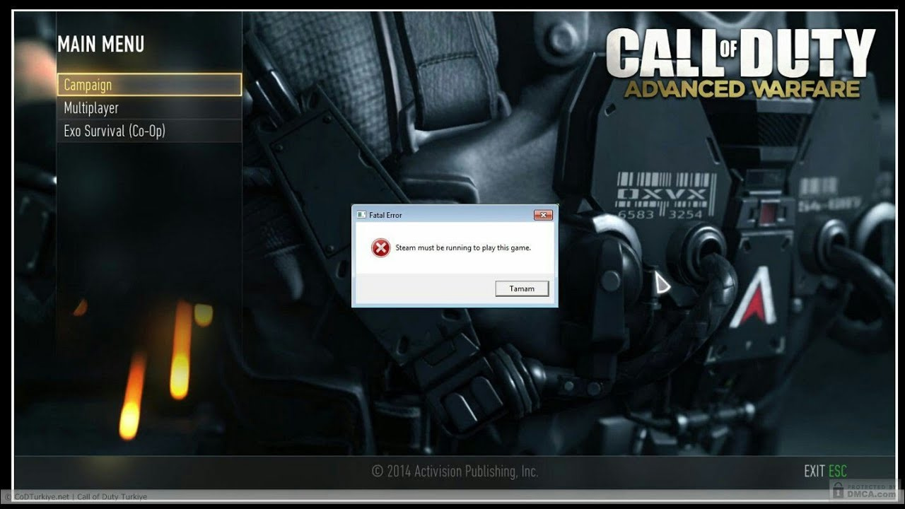 Steam Must Be Running To Play This Game[FIX]