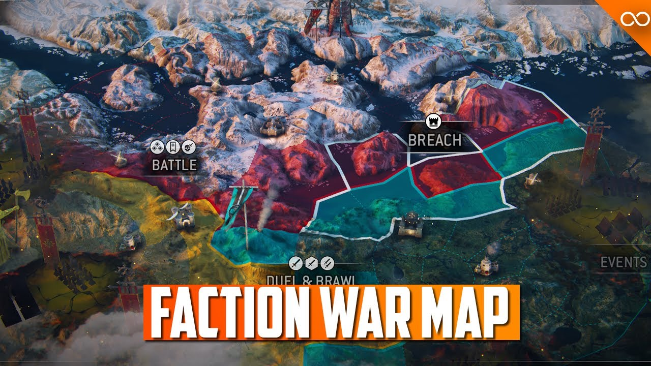 For Honor Faction War Map