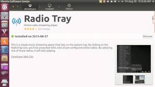 Ubuntu 13.04 radio tray
