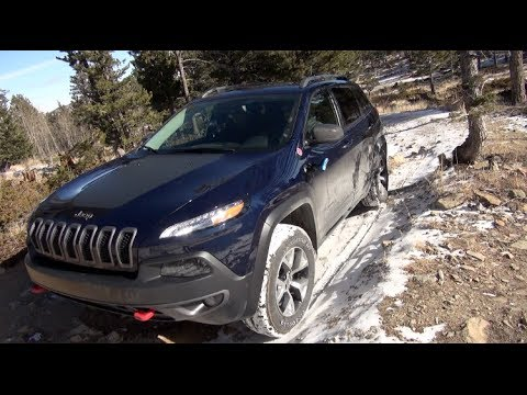 2014 Jeep Cherokee Trailhawk 4X4 Snowy Colorado Drive & Review
