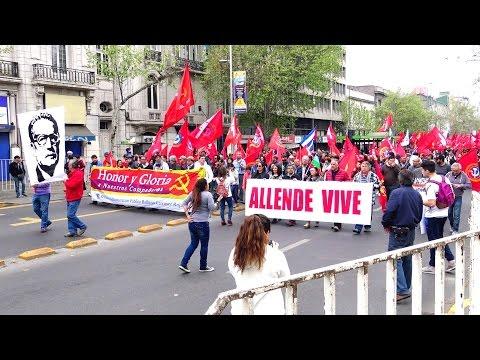 President Allende Vive parade in Santiago de Chile