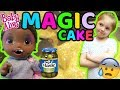 BABY ALIVE makes a MAGIC CAKE! The Lilly and Mommy Show! The TOYTASTIC Sisters. FUNNY SKIT!