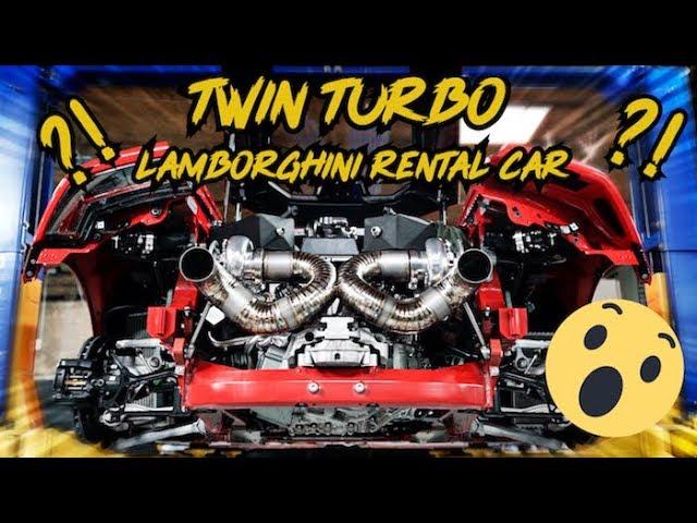 Twin Turbo Lamborghini Huracan Rental Car Are We Crazy