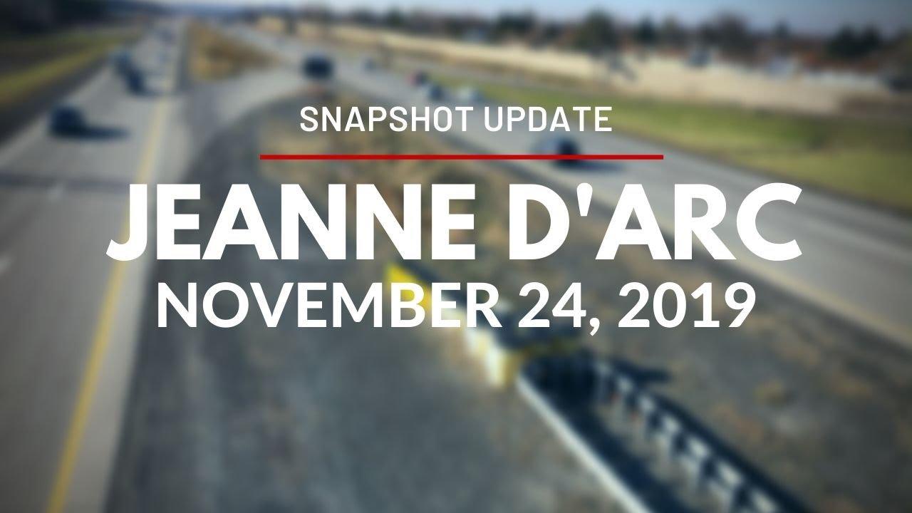 Snapshot Update for Jeanne d'Arc Station - November 24, 2019