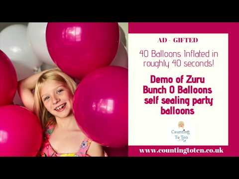 Super Fast Inflating Party Balloons Fun: Demo Of Zuru Bunch O Balloons (AD: Gifted)