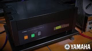 Yamaha M-2 amp driving Gershman Acoustics Grand Studio loudspeakers