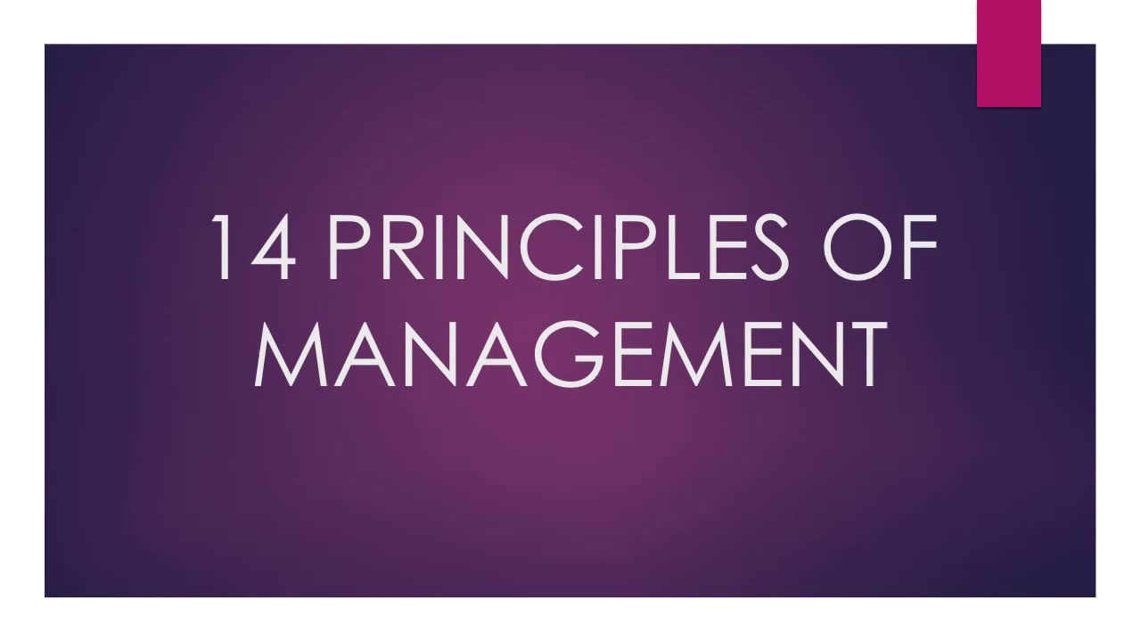 14 principles of management The 14 principles of management had a significant influence on present management theory the list of principles is among the earliest theories of management and it is still one of the most.