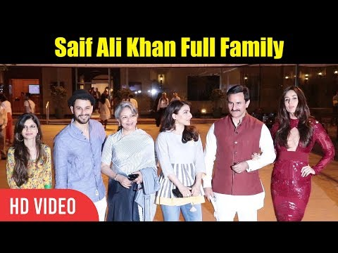 Saif Ali khan Full Family | Kareena Khan Kapoor, Soha Ali Khan, Sharmila Tagore,  Kunal Khemu thumbnail
