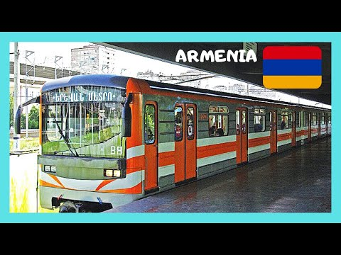 ARMENIA, rare views inside YEREVAN'S METRO (subway or underground)