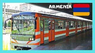 ARMENIA, rare views inside YEREVAN'S METRO (subway or underground)
