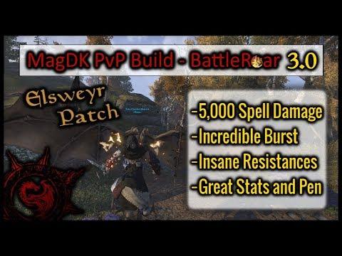 Magicka DK PvP Build ELSWEYR: [ Battle Roar 3.0 ] 5k Spell Damage | Maxed Resists | Stronger Burst