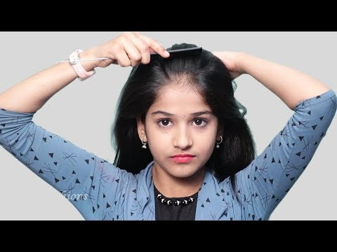 Quick self hairstyle for girls   self hairstyles 2019   new hairstyles for party/wedding thumbnail
