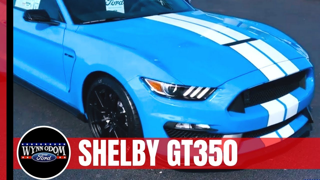 2017 Mustang Gt350 Black >> 2017 Ford Mustang Shelby GT350 Grabber Blue | Wynn Odom Ford - YouTube