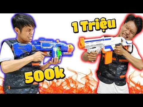 Tony | Súng Liên Thanh 500k VS Súng Ống 1 Triệu  - Nerf Gun Challenge
