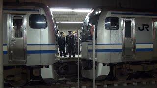 故障した横須賀線E217系15両 救援車両15両を連結し30両編成に 東京駅にて 30 Cars Train in Japan