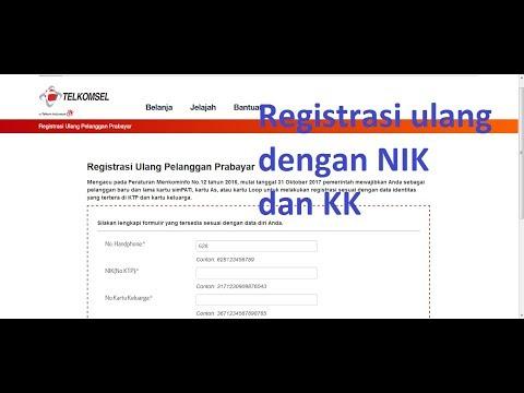 Registrasi Ulang Kartu Prabayar Dengan NIK dan Nomor KK - Kartu Telkomsel